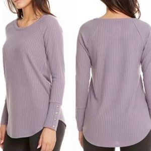 Chaser Thermal Button Cuff Waffle Knit Shirt Sz S